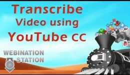 Transcribe video to text using YouTube Closed Captions | Webination Station